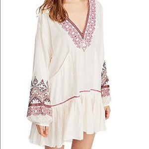 NWT Free people // wild one embroidered dress